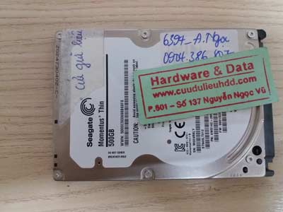 phục hồi dữ liệu seagate-500Gb