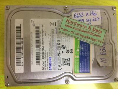 Recover dữ liệu-Samsung 320GB