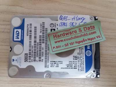 recover dữ liệu-western-500GB