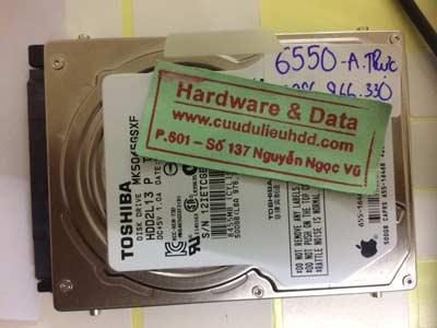 khôi phục dữ liệu-Toshiba-500GB