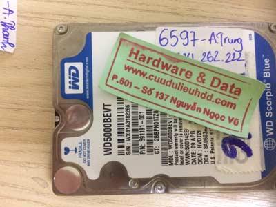 Phục hồi dữ liệu Western 500GB