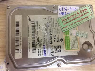 cứu dữ liệu ổ cứng Samsung 80GB