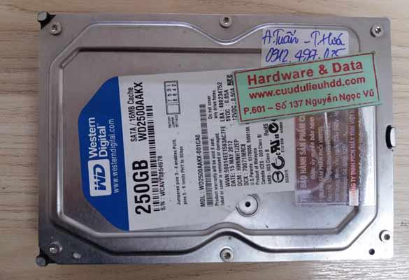 14-09-2017 ổ cứng Western 250GB hỏng đầu đọc