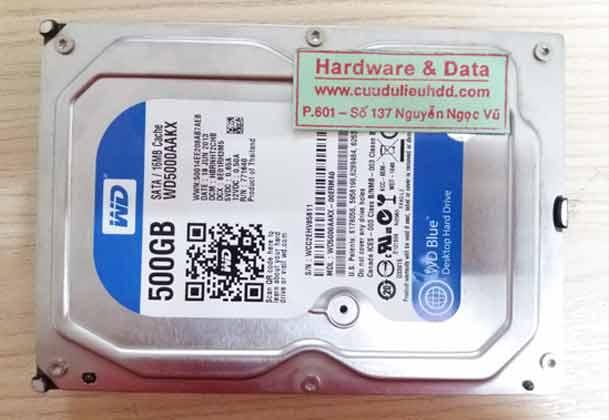 18-09-2017 ổ cứng Western 500GB do xóa nhầm