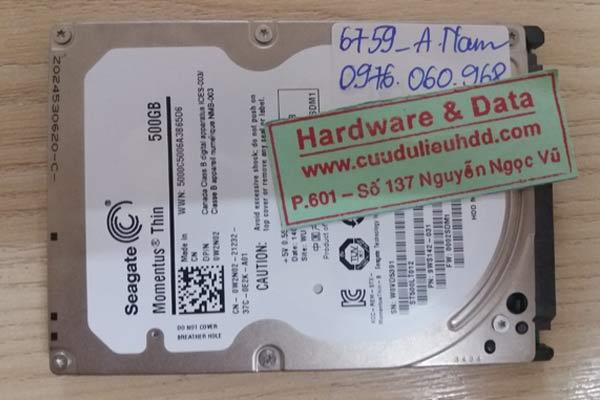 6759 ổ cứng Seagate 500gb bị bad sector và hỏng đầu từ