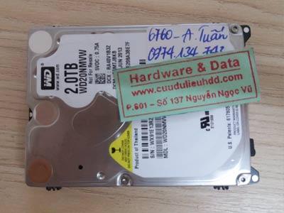 6760 ổ cứng Western 2TB do chết cơ
