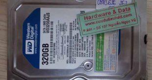6777 ổ cứng Western 320GB hỏng cơ