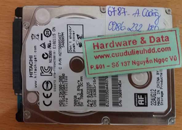 6787ổ cứng Hitachi 500GB bị chết cơ