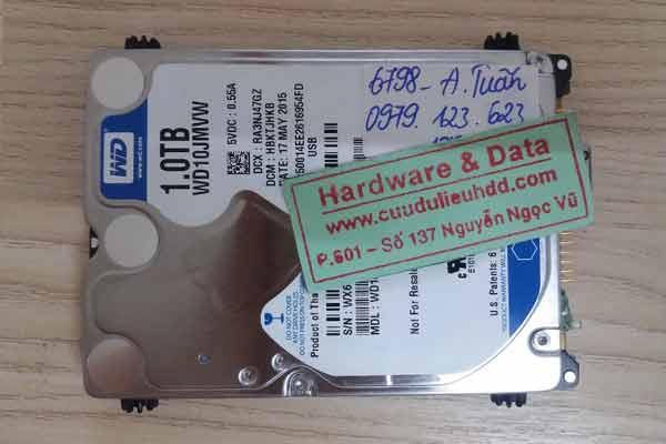 6798 ổ cứng di động Western 1TB bị hỏng 1/4 đầu từ