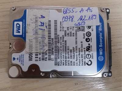 6855 ổ cứng Western 500GB bị chết cơ