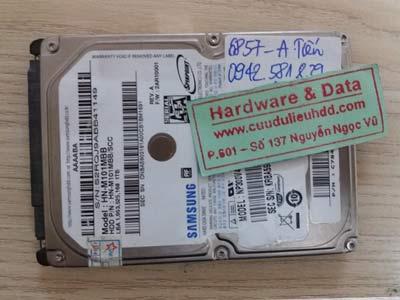 6857 ổ cứng Samsung 1TB bị mất phân vùng