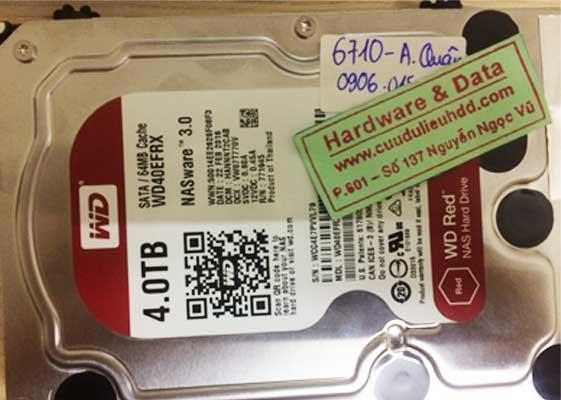 Khôi phục dữ liệu ổ cứng Western 4TB tình trạng hỏng đầu từ