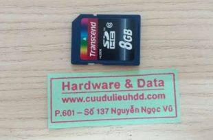 thẻ nhớ 8Gb bị xóa nhầm