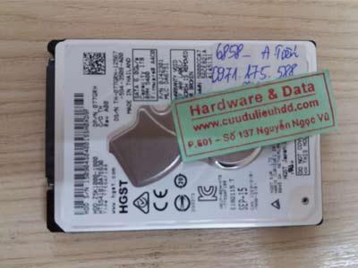 6858 ổ cứng Hitachi 1TB hỏng từ