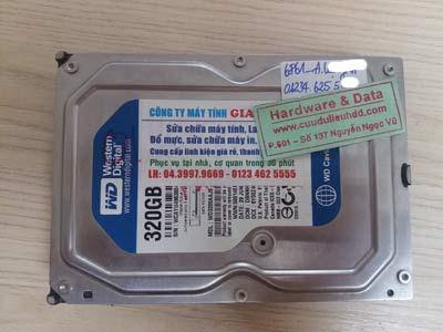6861 ổ cứng Western 320GB không nhận
