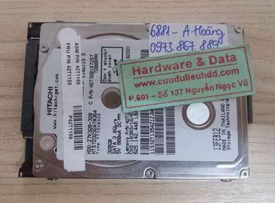 6881 ổ cứng laptop Hitachi 320GB bị format nhầm