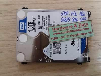 6900 ổ Western 1TB bị hỏng 1/4 đầu từ