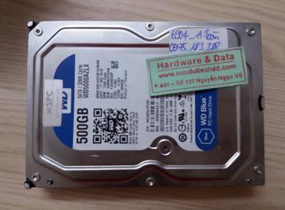 6904 ổ HDD Western 500GB bị xóa nhầm