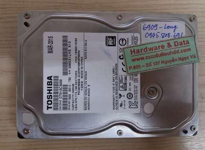 6909 HDD Toshiba 500GB bị lỗi đầu đọc