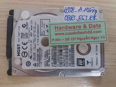 6938 ổ cứng Hitachi 500GB bị mất phân vùng