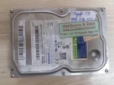 ổ cứng Samsung 250GB bị chết cơ