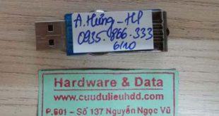Cứu dữ liệu USB 2GB bị mất dữ liệu