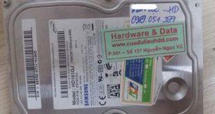 Samsung 160GB bị lỗi đầu từ
