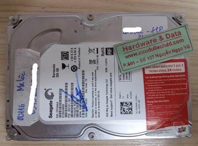 Ổ cứng Seagate 250GB bị hỏng cơ
