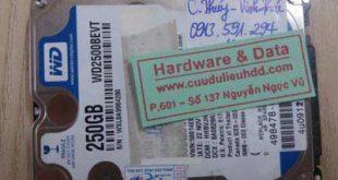 18.1HDD laptop Western 250GB bị chết cơ