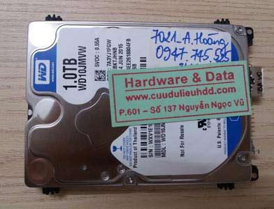 7021 HDD Western 1TB hỏng đầu từ