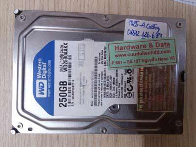 7025 ổ cứng Western 250GB bị lỗi đầu từ
