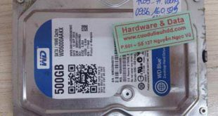 7059 HDD PC Western 500GB cài win nhầm