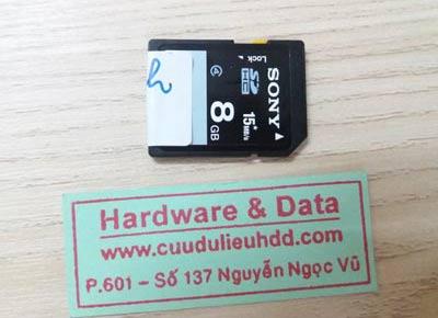 9-11 thẻ Sony 80GB bị xóa dữ liệu