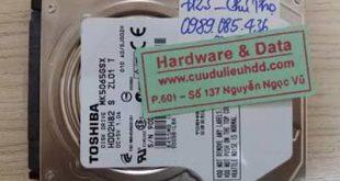 7123 ổ cứng Toshiba 500GB bị lỗi đầu từ