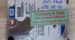 7125 HDD Western 500GB hỏng 1/3 đầu từ