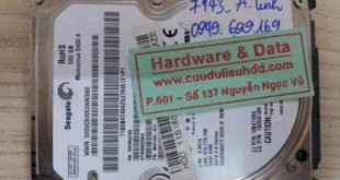 7143 ổ cứng Seagate 500Gb bị lỗi đầu đọc