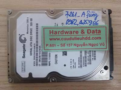 7261 Seagate 320GB bị format
