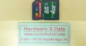 Phục hồi dữ liệu Transcend 4GB