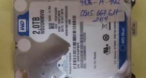 Cứu dữ liệu ổ cứng Western WD20NMVW