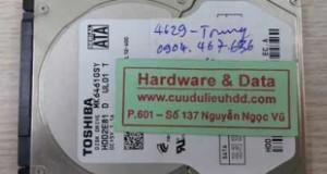 khôi phục dữ liệu Toshiba 640GB