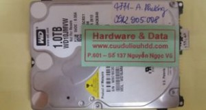 Cứu dữ liệu ổ cứng Western hỏng 1/4 đầu từ