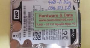 Lấy lại dữ liệu ổ cứng Western laptop đầu từ lỗi