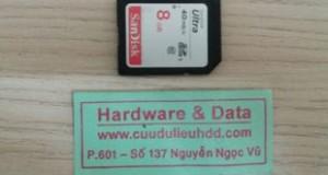 Khôi phục dữ liệu thẻ máy ảnh mất dữ liệu